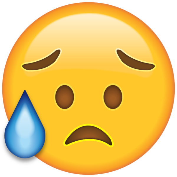 Disappointed but Relieved Face Emoji | Emojis | Emoji drawings