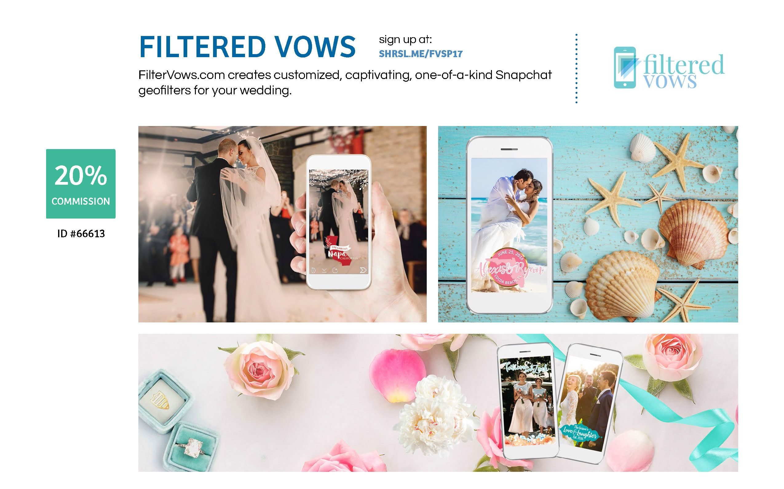 FilterVows.com creates customized, captivating, one-of-a-kind Snapchat geofilters for your wedding. #wedding