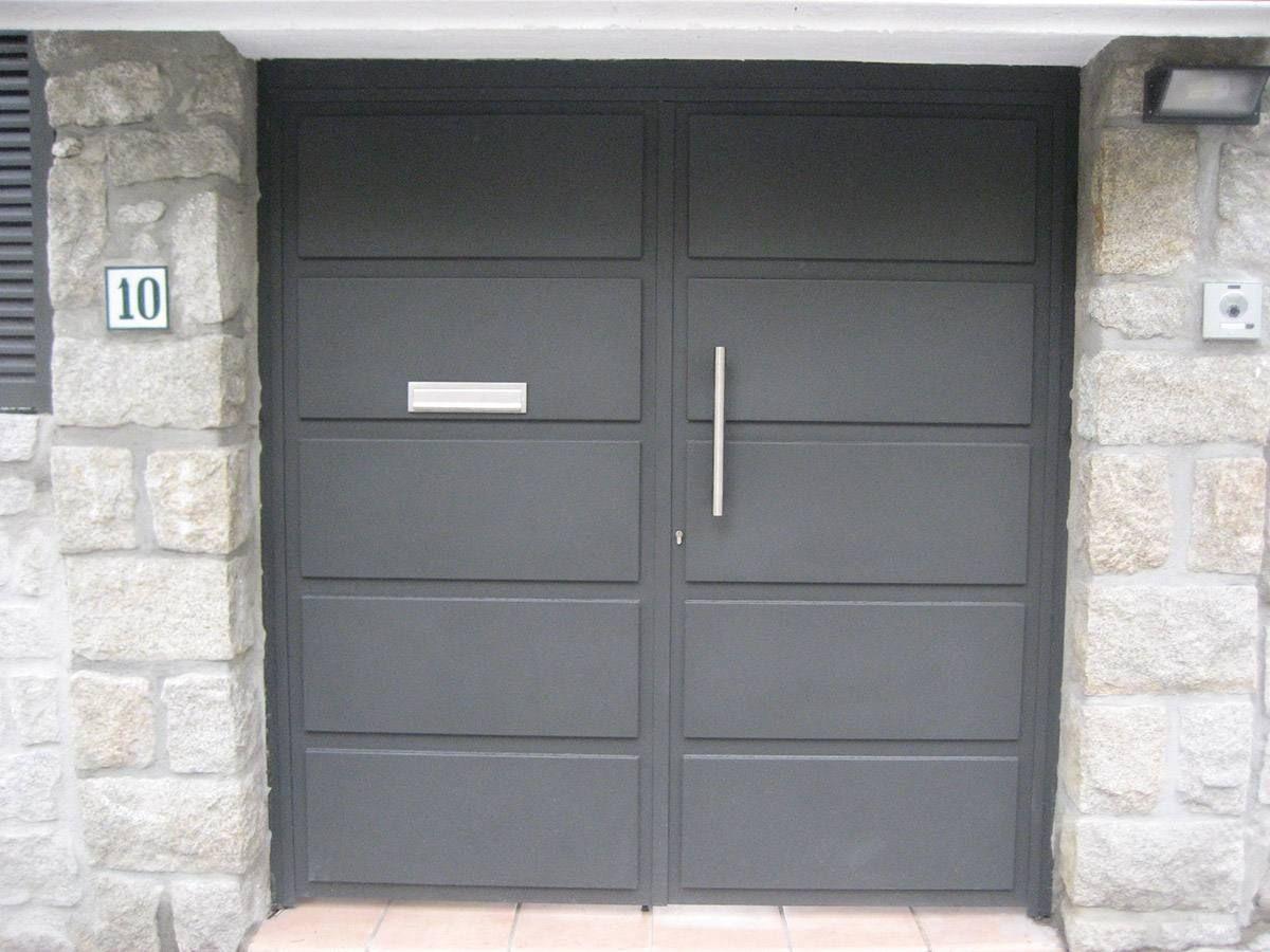 Puertas chapas galvanizadas home puertas de metal - Puertas metalicas jardin ...