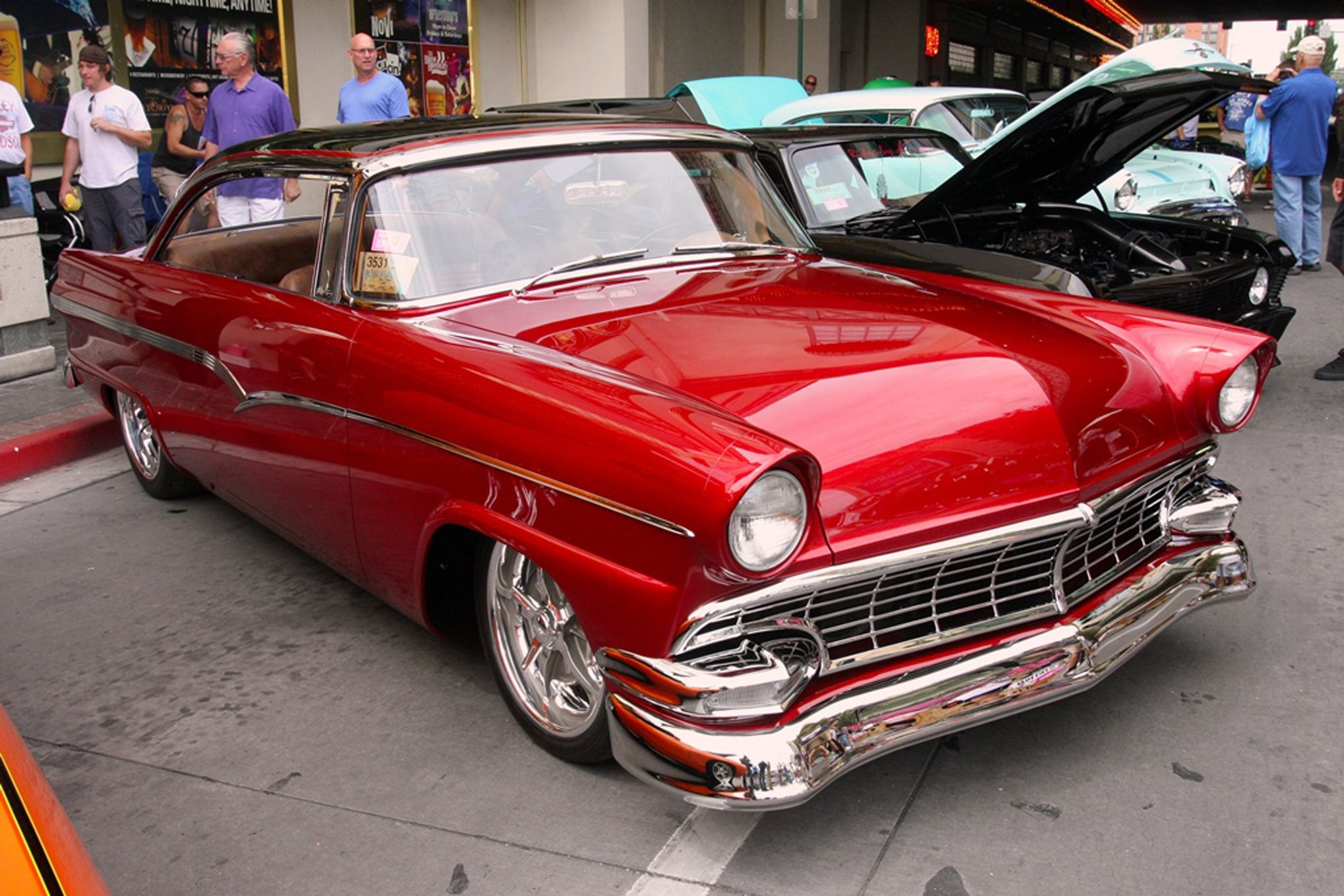 56 Ford Customline Hardtop Ford Classic Cars Classic Cars Muscle Ford Convertible