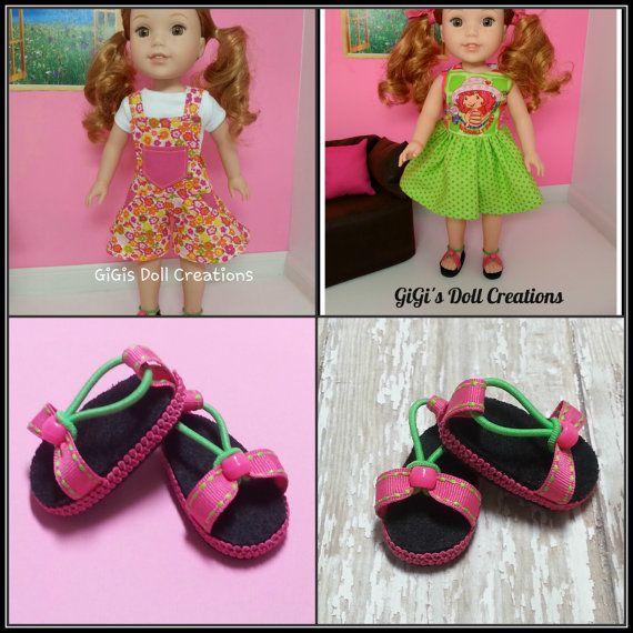 R Sequin Flip Flops fit American Girl Wellie Wisher Doll 14.5 Inch Seller lsful