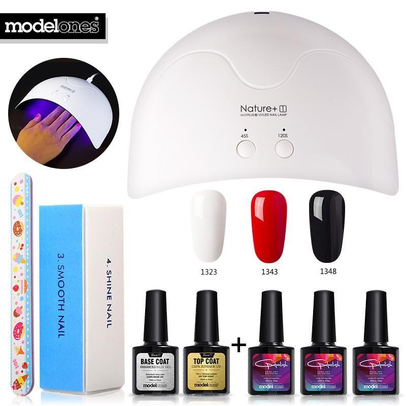 16w Art Diy 8pcs Modelones Design Nature1 Uv Led Kits Lamp Nail eQdCoWrxB