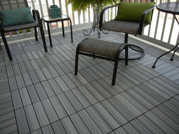 Naturale Composite 12 X 12 Interlocking Deck Tiles In Icelandic Smoke White Rooftop Terrace Design Diy Patio Pavers Deck Tiles