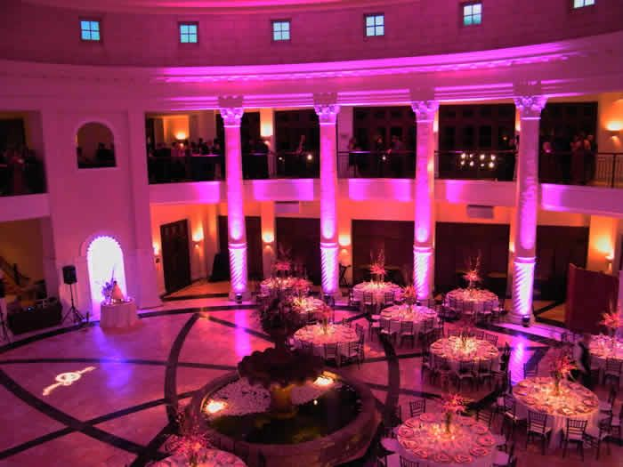 Outdoor Wireless Battery Ed Led Uplighting For Wedding Event Chauvet Well