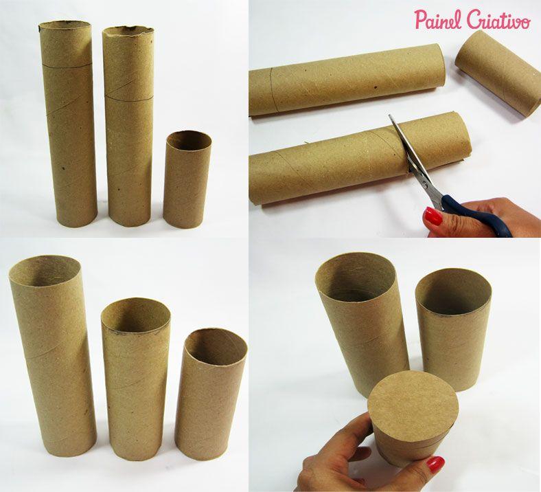 Como Fazer Porta Lapis Tubo Papel Aluminio Toalha Rolinho Papel