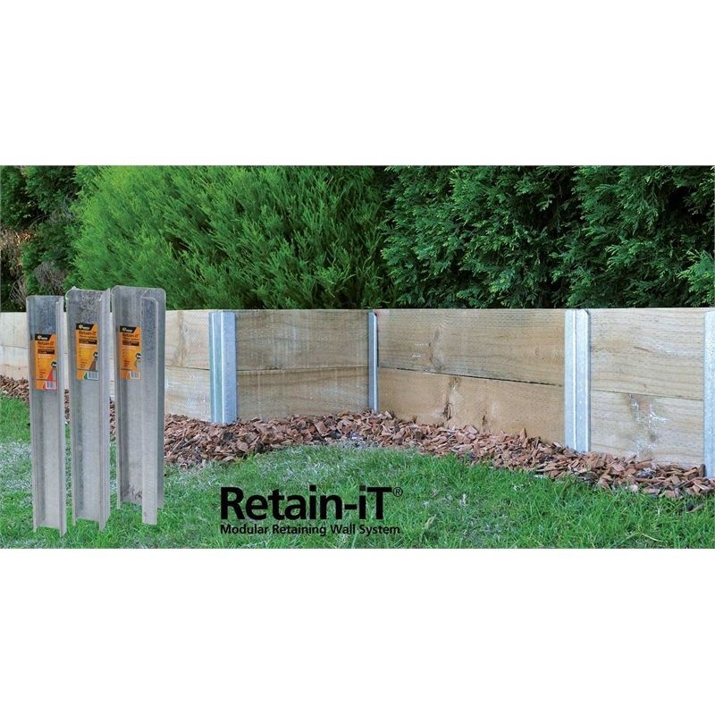 Whites Outdoor 750 X 50mm Retain It Joint Post Bunnings Warehouse Retaining Wall Landscaping Retaining Walls Steel Retaining Wall