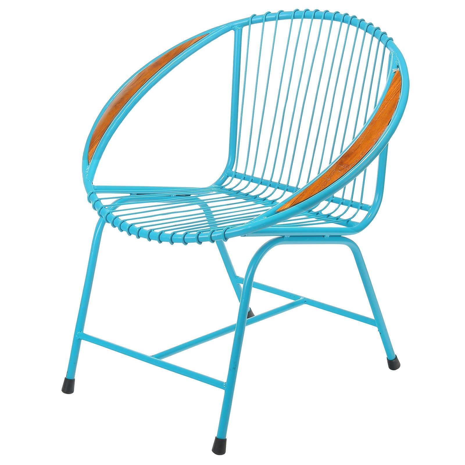 Joseph Allen Brooklyn Metal Wire Chair, Blue (Bali) (Brooklyn Metal ...
