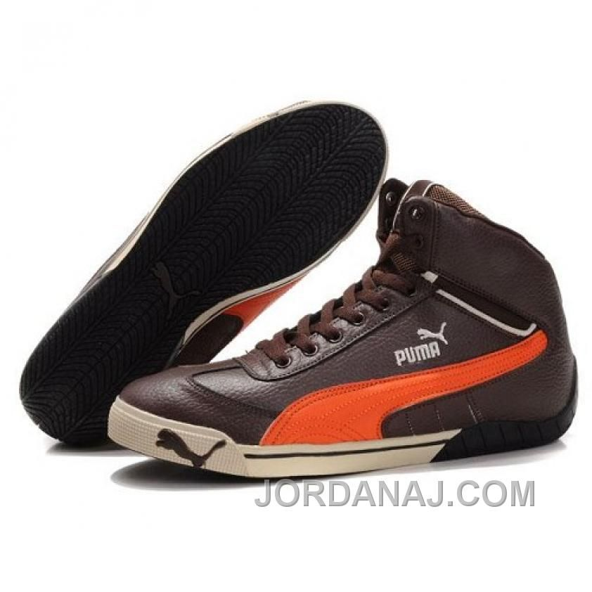 12852281063 Puma Michael Schumacher High Tops Chocolate Orange New Release – Puma Fenty  – New Release Puma Shoes