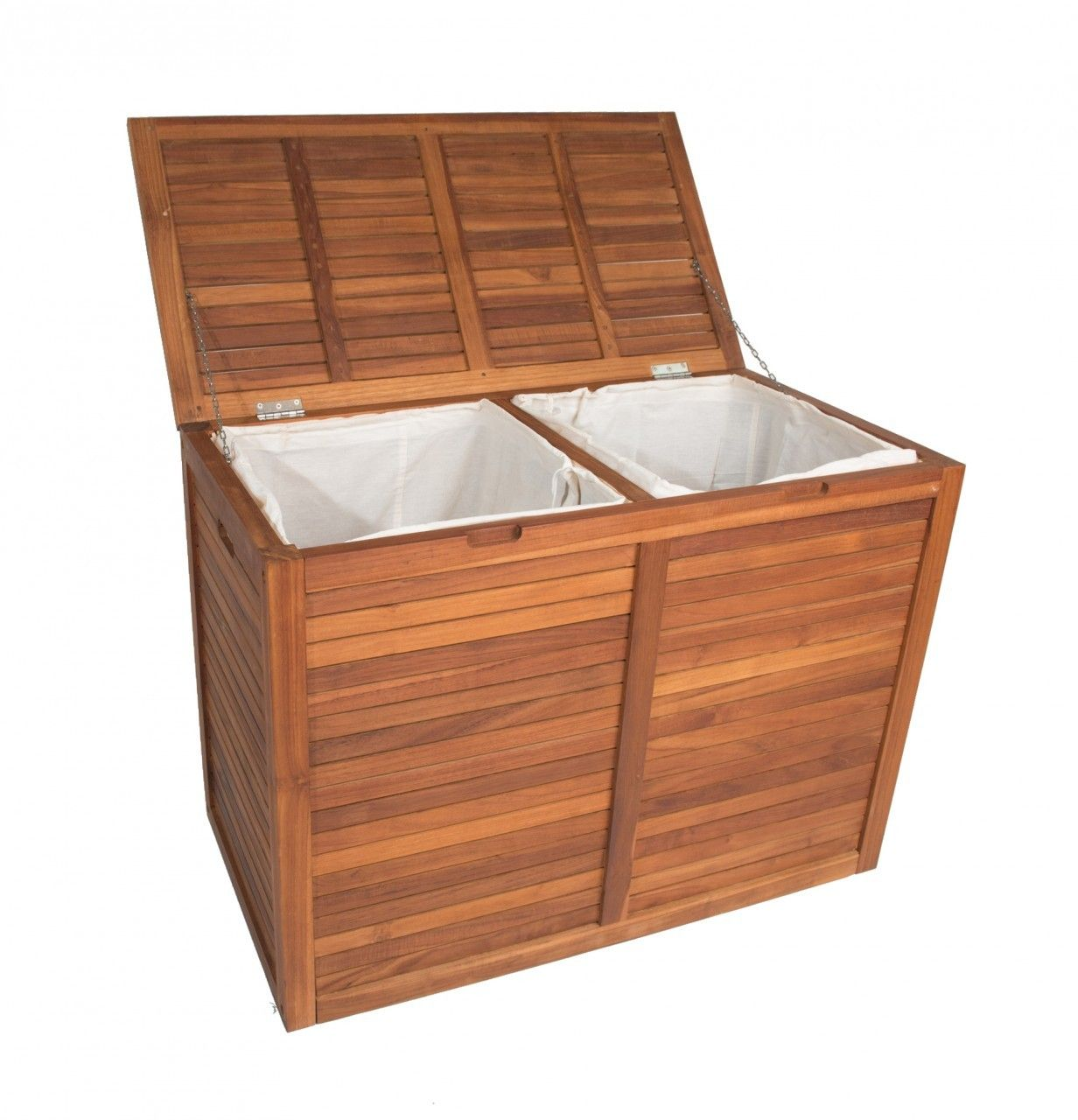 The Original Nila Large Size Double Teak Laundry Or Storage