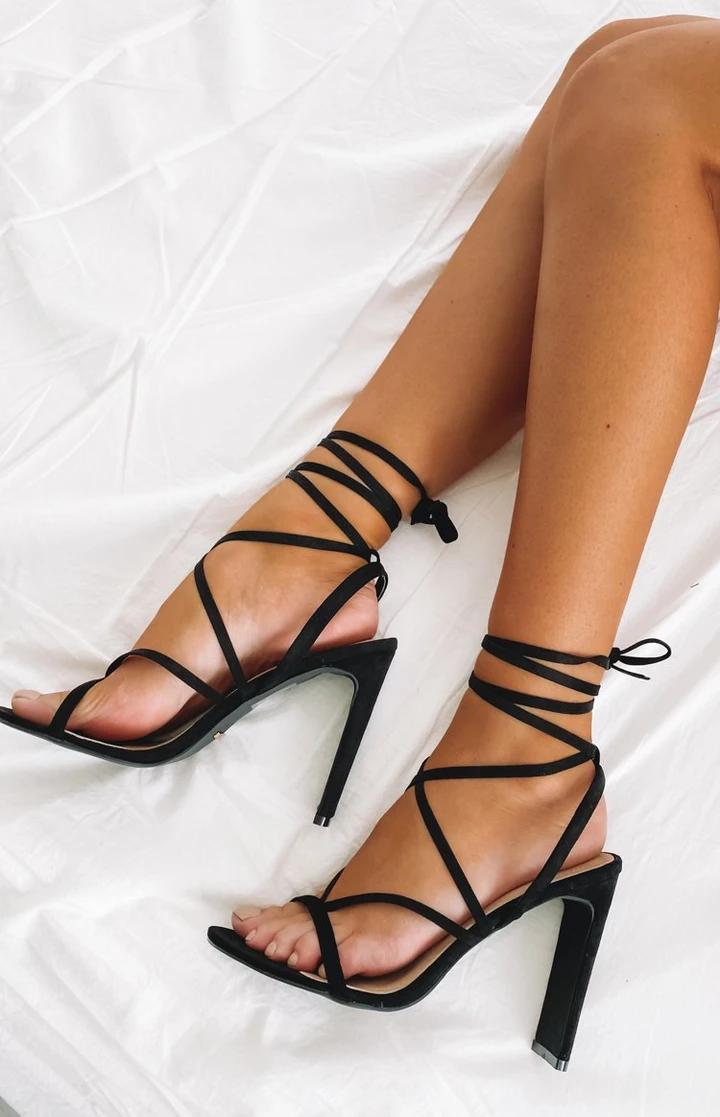 Billini Diya Heel Black Suede Ankle Heels Outfit Heels Black Heels Prom [ 1117 x 720 Pixel ]