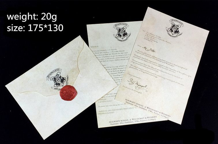 Free Shipping Hot Hogwarts Acceptance Letter Package  Pieces Suit