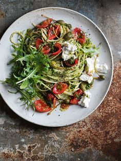 fresh tomato, kale and caperberry pasta from donna hay magazine fast issue #82