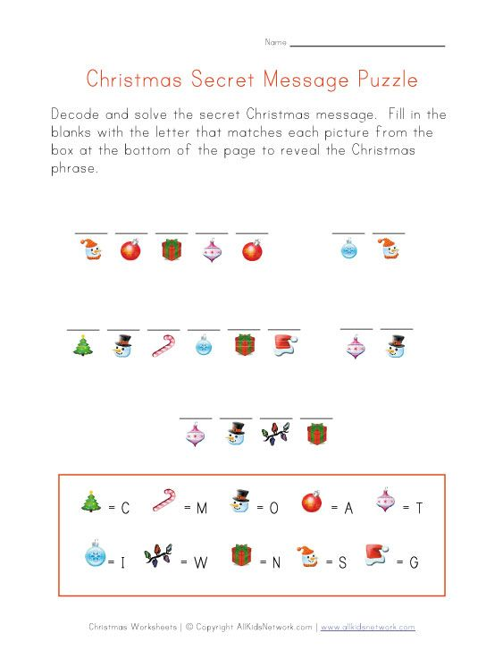 Worksheets Christmas Worksheets For Kids christmas secret message to print and winter puzzle worksheet decode the message