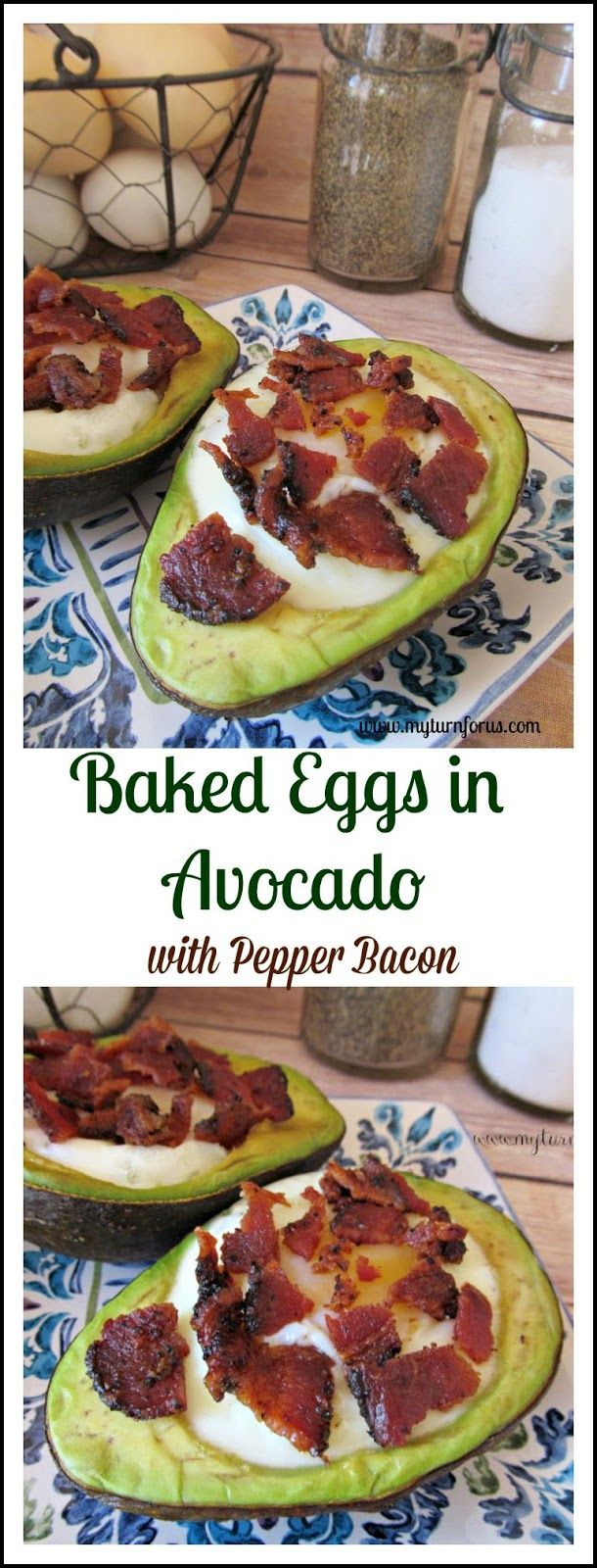 Photo of Baked Eggs in Avocado with Pepper Bacon – My Turn for Us