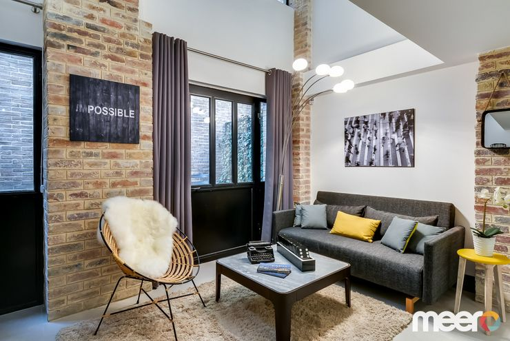 meero votre photographe d 39 int rieur mur de briques pinterest s jour industriel et. Black Bedroom Furniture Sets. Home Design Ideas
