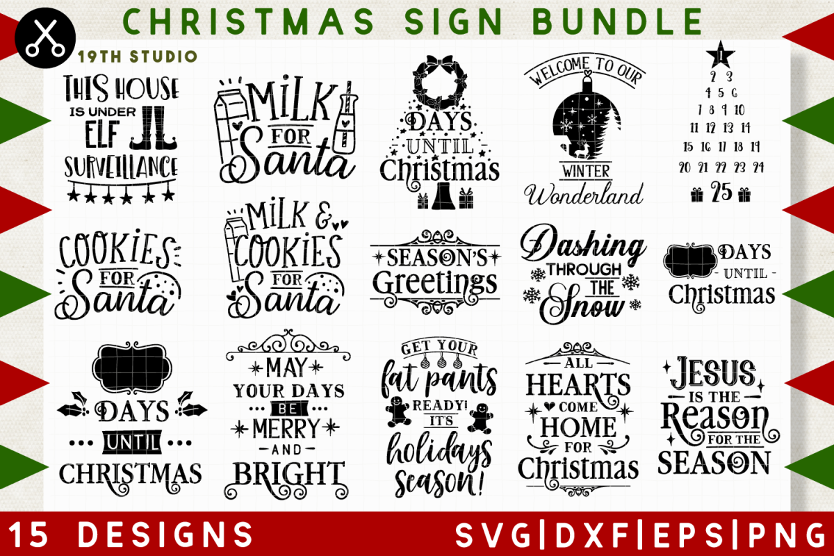 View Christmas Collection Pack, Great For Kids!! Svg//Dxf//Png//Eps Image