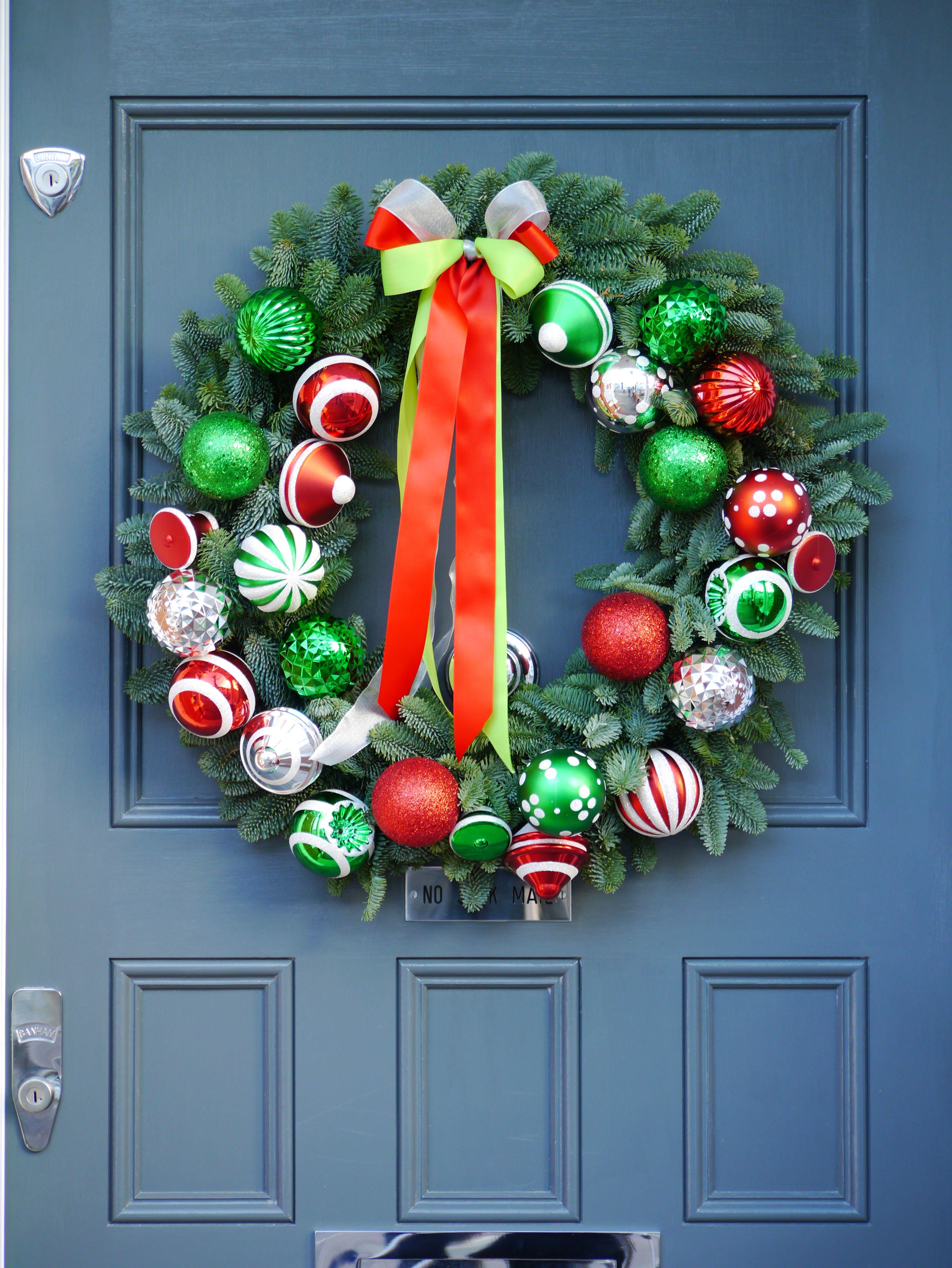 modern christmas wreaths look great on doors by the london door company. modern christmas wreaths look great on doors by the london door