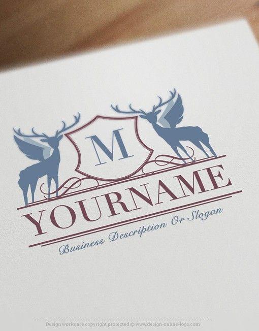 Exclusive Design Retro Initial Logo Free Business Card Retro