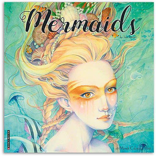 Mermaids 2018 Wall Calendar #mermaid #mermaidlife #calendar #art ...