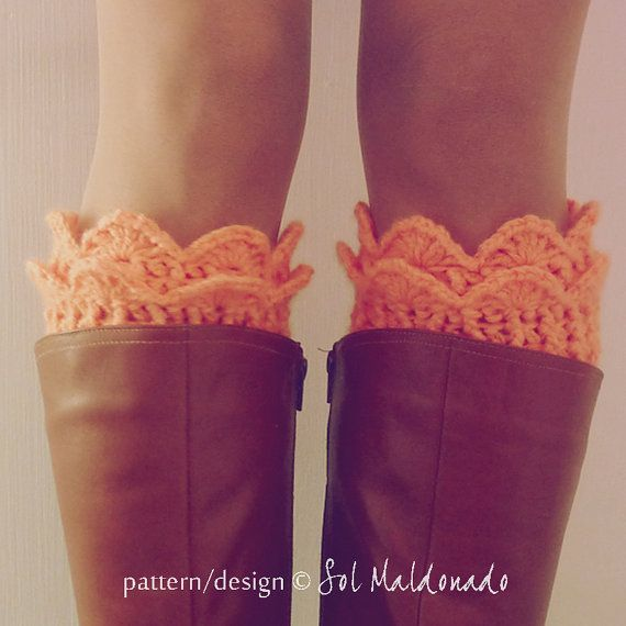 Boot Cuff Pattern Crochet PDF - Winter Trends Woman Accessory - Lucy Leg Warmers, boot socks, boot topper, boot cuff - Instant DOWNLOAD