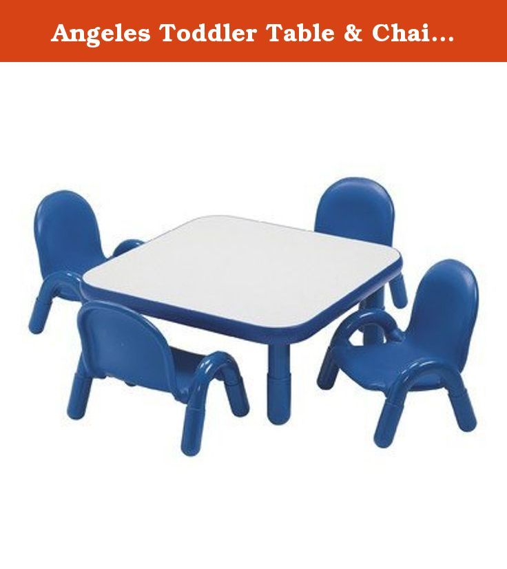 Angeles Toddler Table & Chair Set ROYAL BLUE. AB74112PB5 Features: -Provides a wide open space for eating, learning and playing.-Conveniently sold as a set.-Built to last with no exposed hardware.-Lightweight, simple to move.-Easy-to-clean laminate surfaces.-PVC legs and leg boots reduce noise.-Ages 14 months - 3 years. Includes: -Set includes one square table and 4 chairs. Color/Finish: -Color: Royal blue.-Vibrant colors and smart design. Assembly Instructions: -Assembly required…