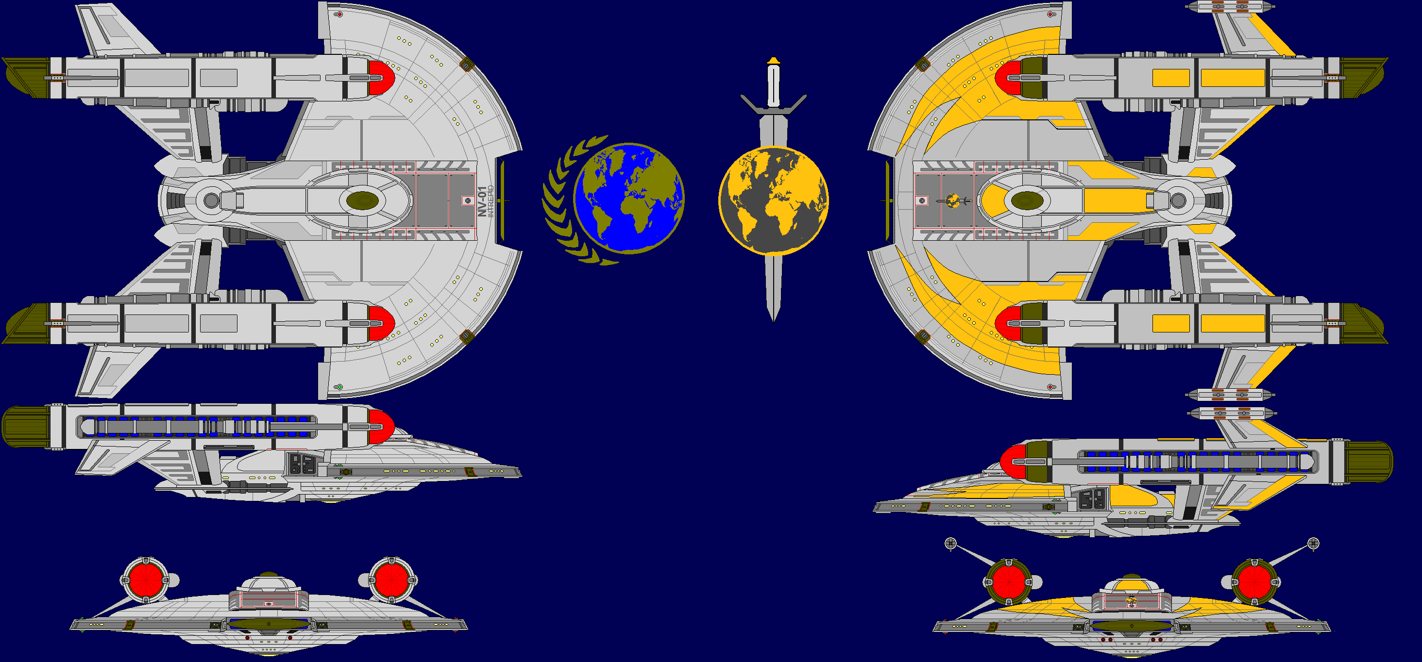 Here Is The Terran Empire Version Description From Deviantart Com I Searched For This On Bing Com Images Star Trek Ships Star Trek Mirror Universe