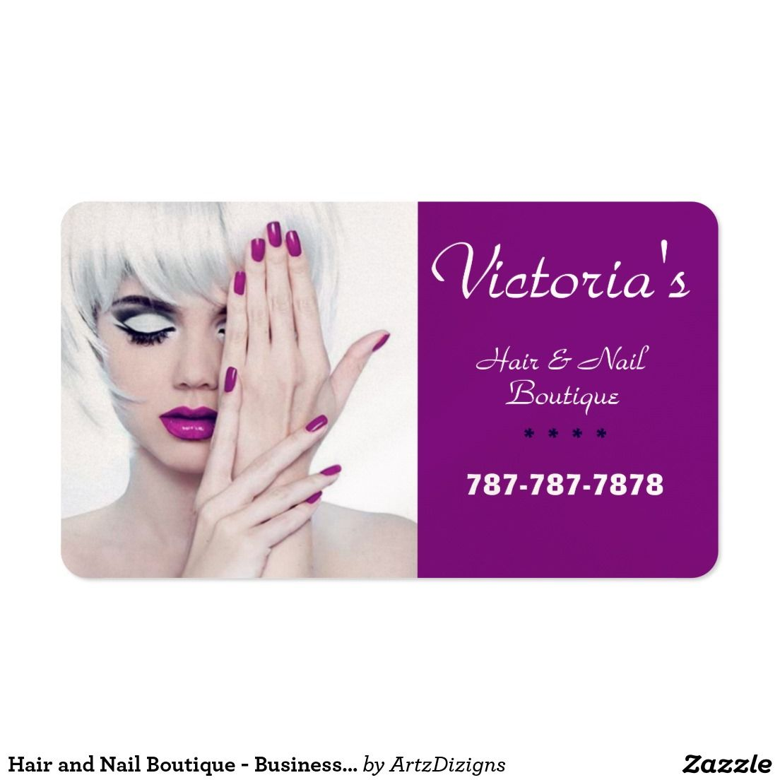 Hair and Nail Boutique - Business Cards http://www.zazzle.com ...