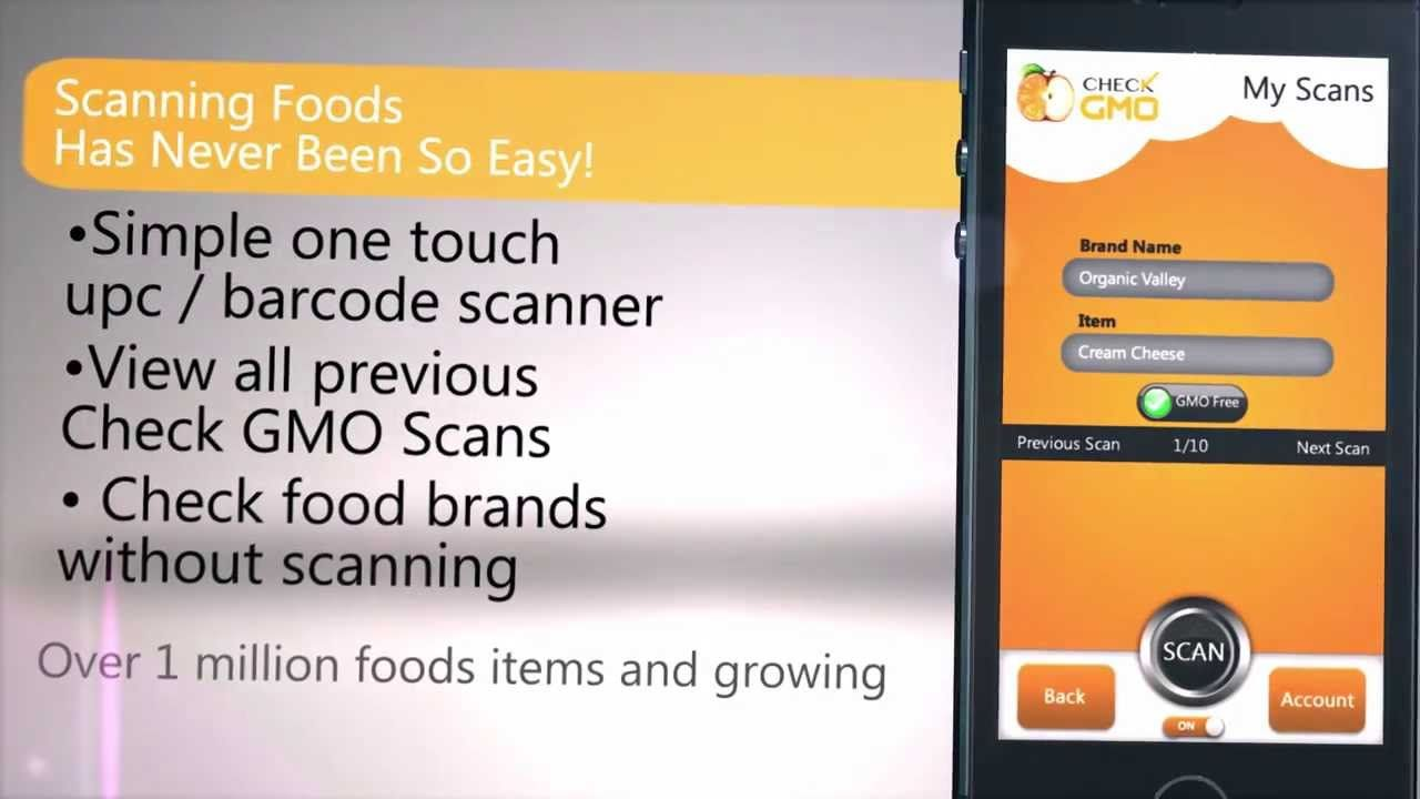 Do you know if your food is gmo free try this free mobile