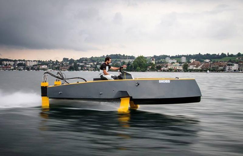 Hydros Retractable Hydrofoil Boat Boat Building Runabout Boat Boat Design