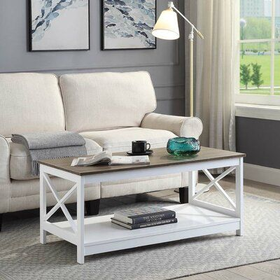 Beachcrest Home Stoneford Coffee Table Color Driftwood Narrow