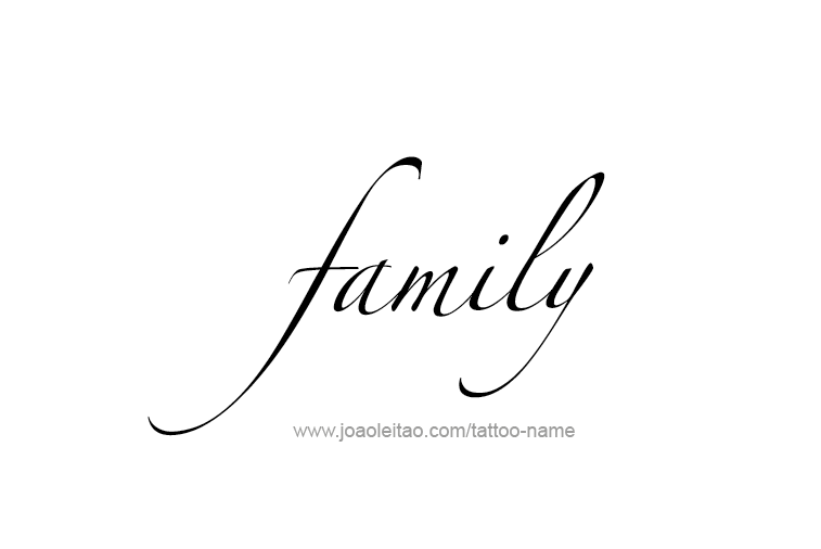 Family Name Tattoo Designs | My Style | Family tattoos ... The Word Family Tattoo Pics