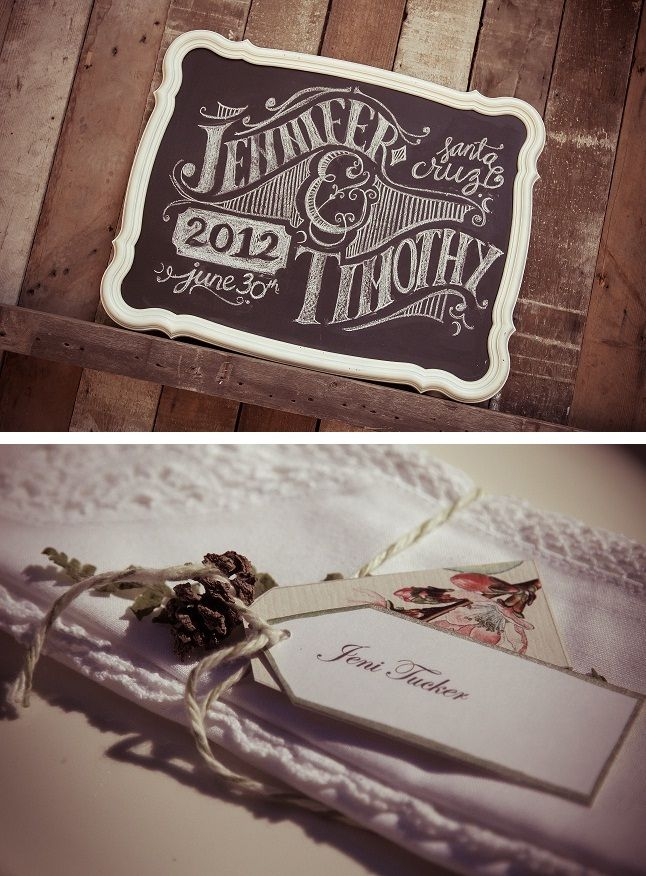 How beautiful is the writing on this wedding chalkboard?