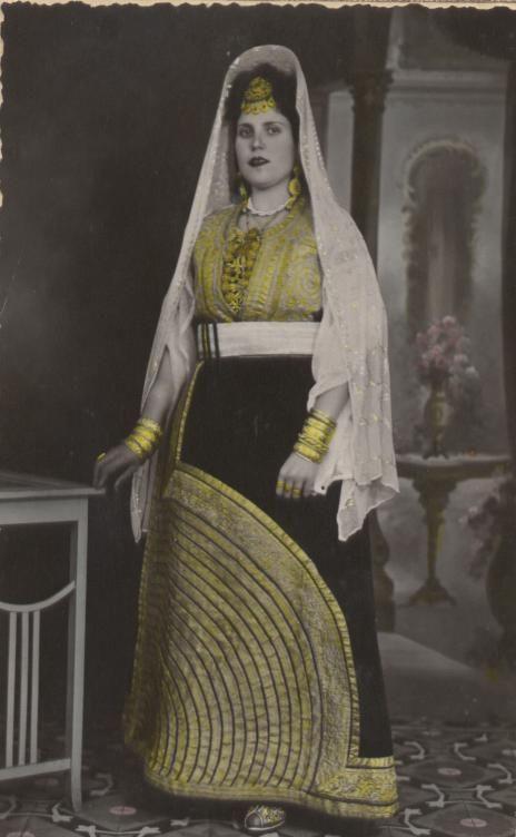 Jewish Moroccan Woman In Traditional Costume Pharyah
