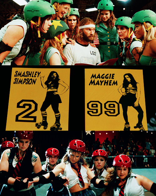 """Ellen Page and Gang in """"Whip It!"""" Ellen page, Whip it"""