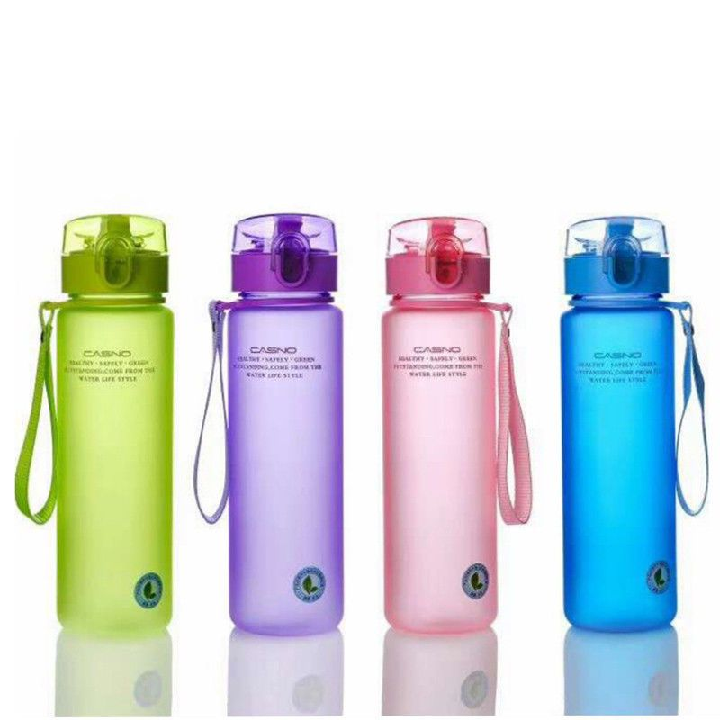 500mL Plastic Portable Leakproof Water Bottle kettle for Travel Running BPA Free