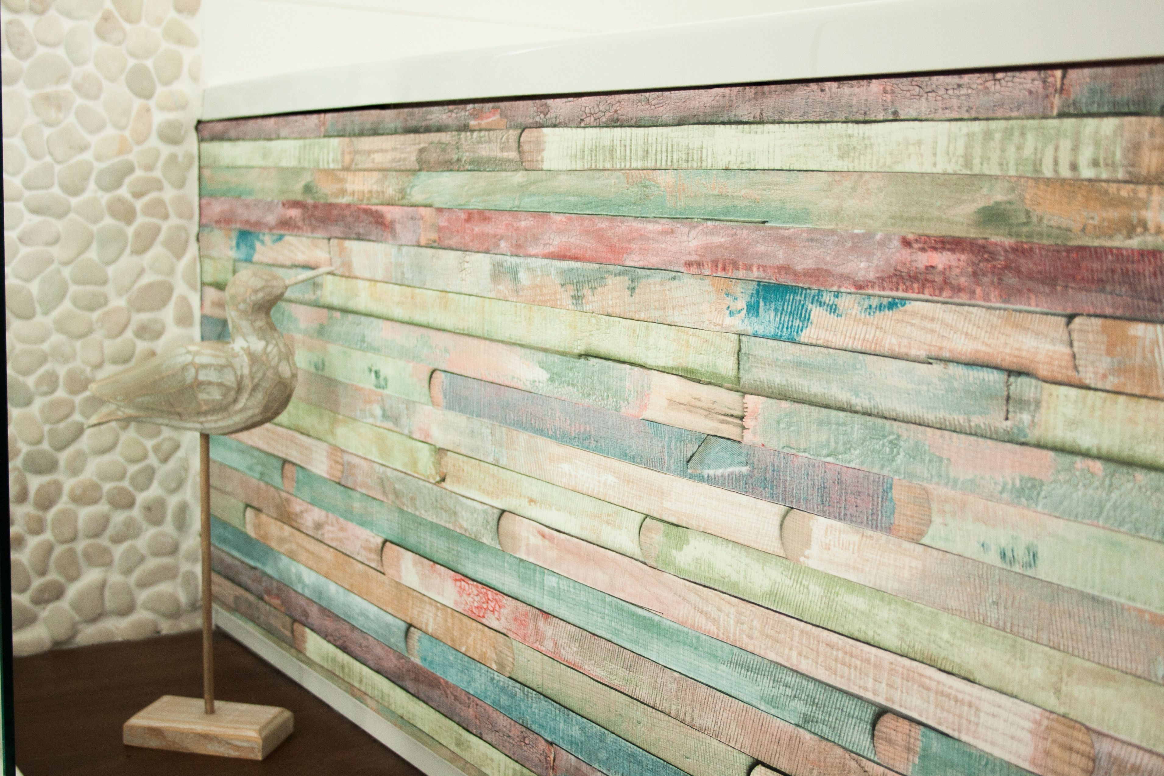 We Hope You Agree That Our Design Rio By D C Fix Looks Fab On This Bath Panel For A Really Beachy Peel And Stick Wallpaper Wood Wallpaper Stick On Wallpaper