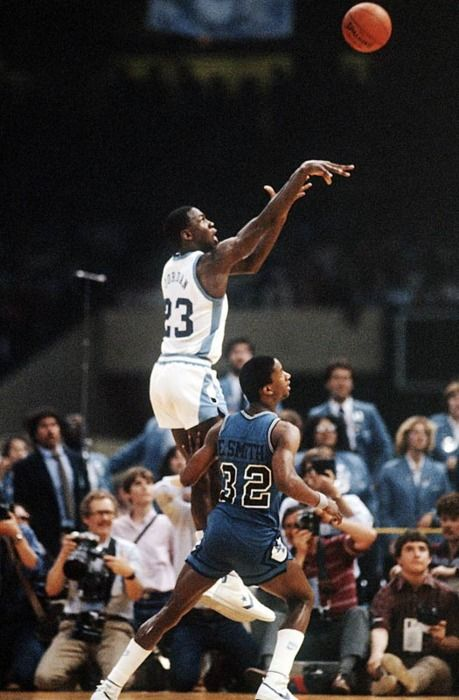innovative design 9db03 fcc03 Michael Jordan this is the game winning shot to win the 1982 NCAA  championship for North Carolina Tar Heels over the Georgetown Hoyas 63-62.