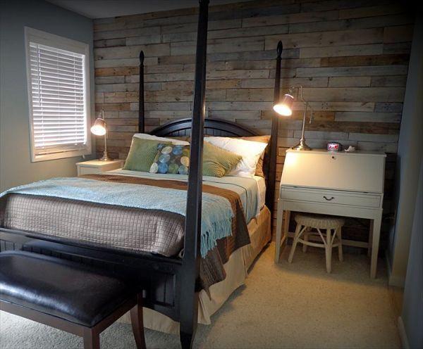 Decorar la pared de tu habitaci n con palets es posible - Decorar paredes con palets ...