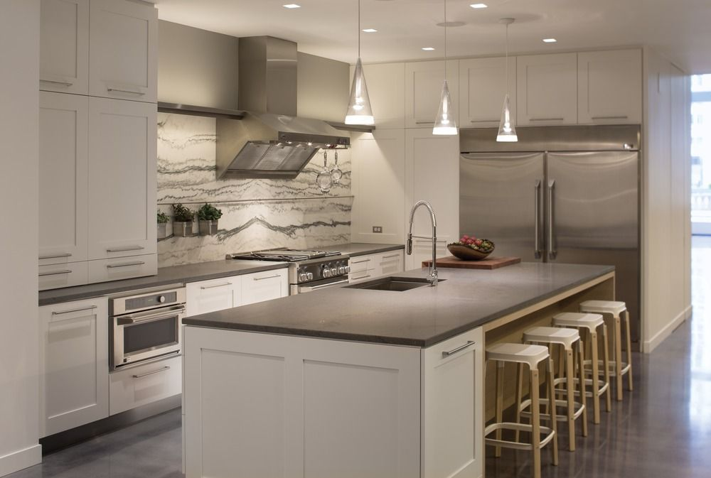 Kitchen Designer Chicago Delectable White Painted Bentwood Kitchen At The Ge Monogram Showroom At Decorating Inspiration