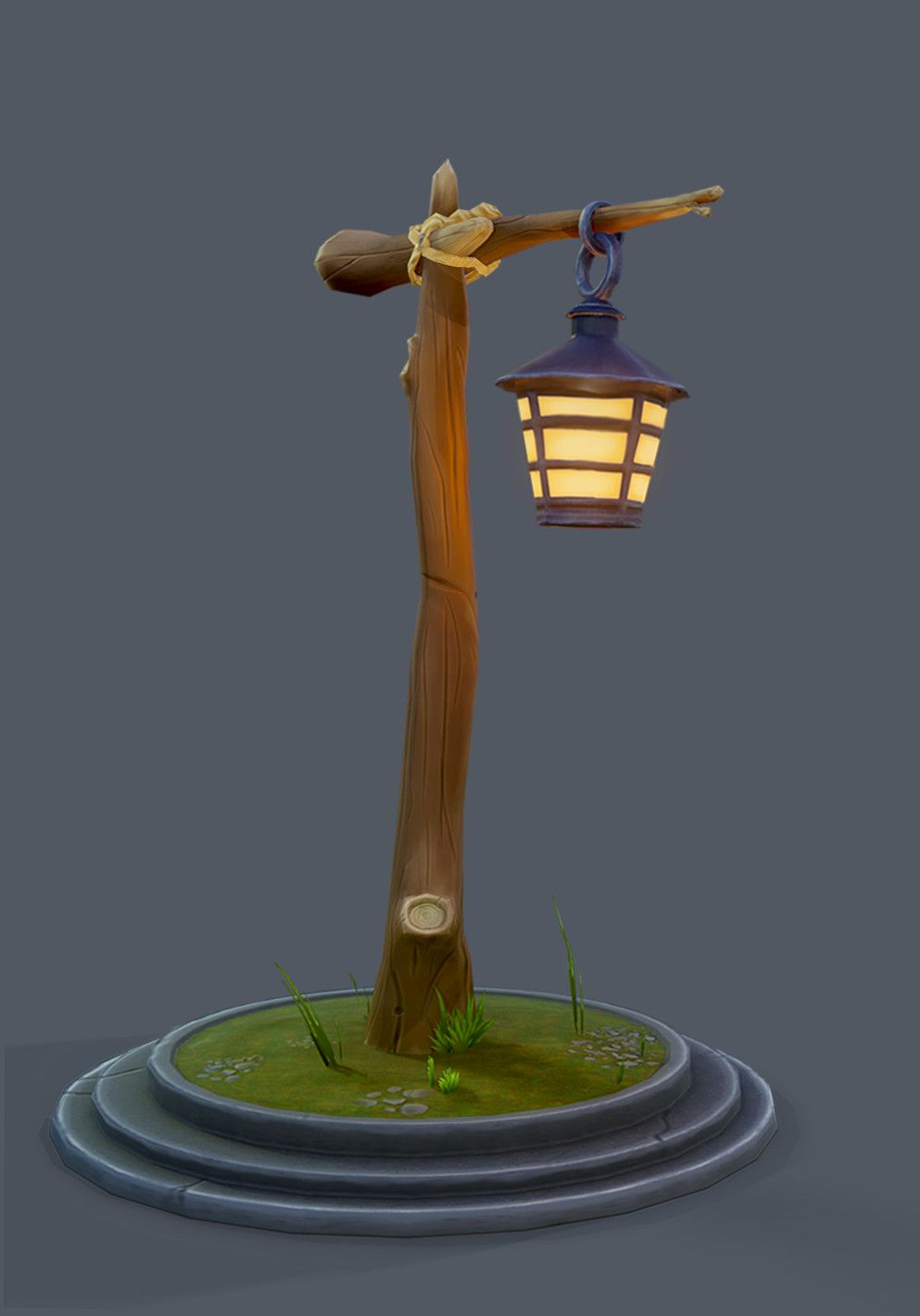 Artstation Lamp Post Austin Labarbera Lamp Post Lamp Game Level Design