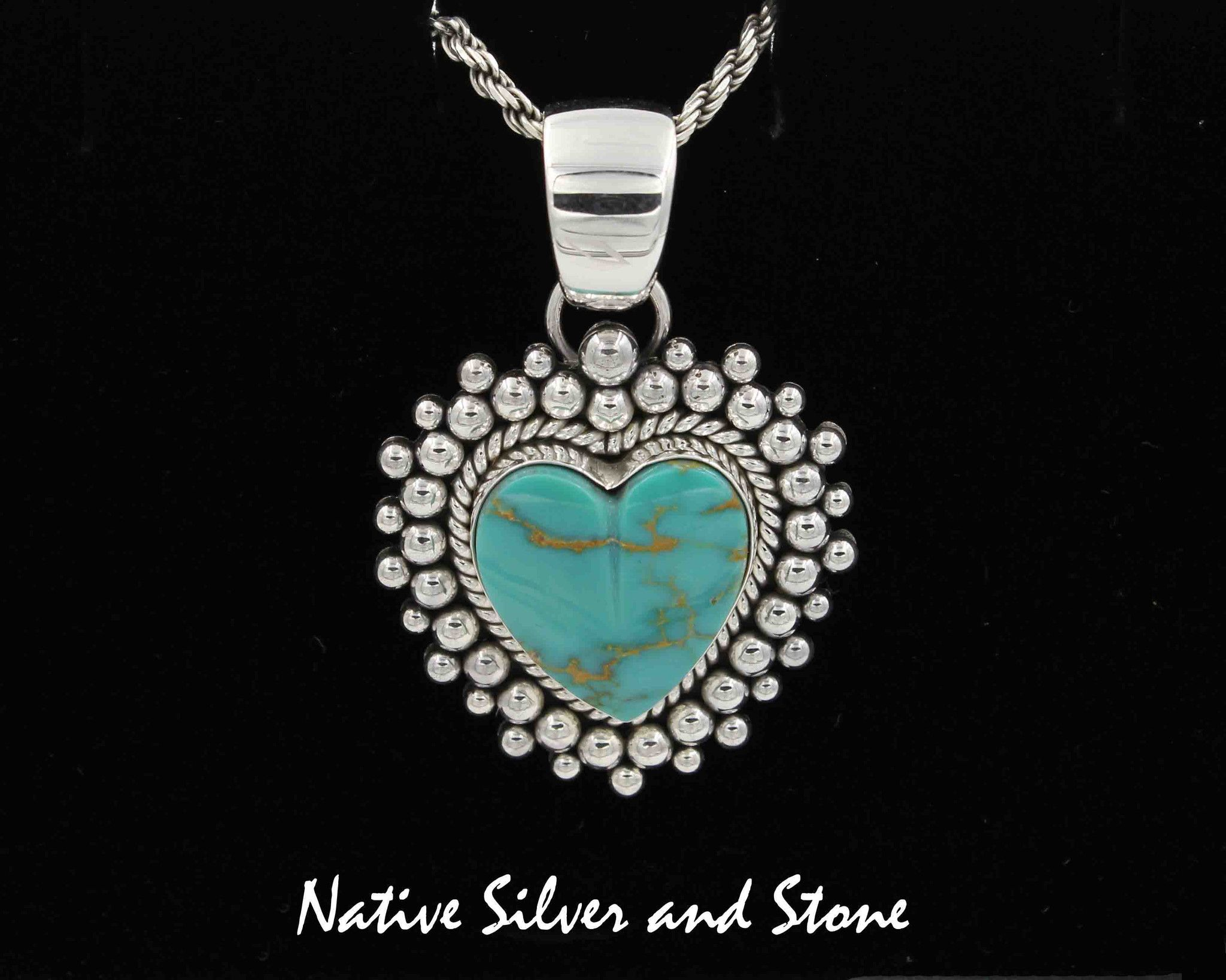 belone in navajo pendant silver eugene turquoise product sterling by kingman jewelry artist