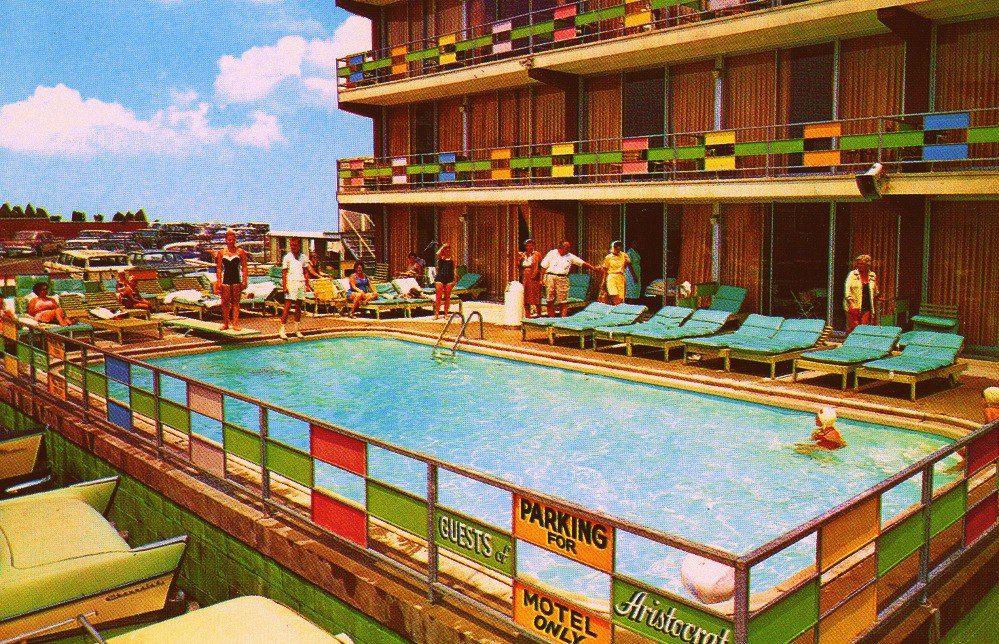 Aristocrat motel in atlantic city 1960s vintage pool