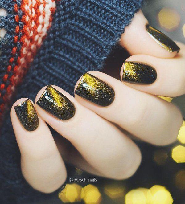 60 Dark Nails for Winter | Uña decoradas