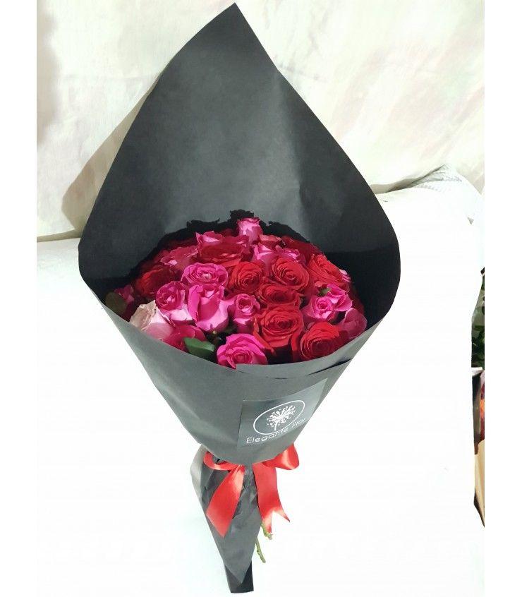 Ramo Con 40 Rosas Rojas Arreglos De Rosas Rosas Rojas Ramos De Flores