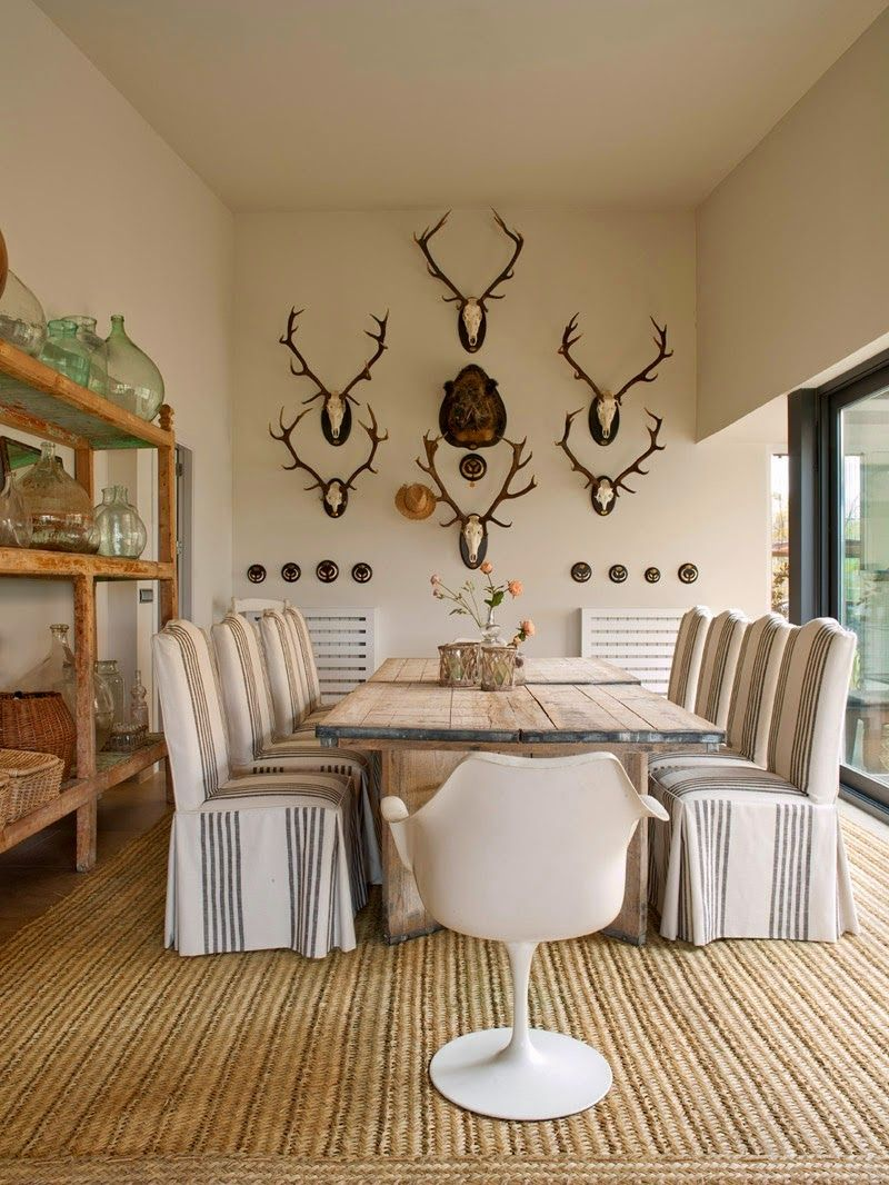 a wonderful country home with eclectic mix