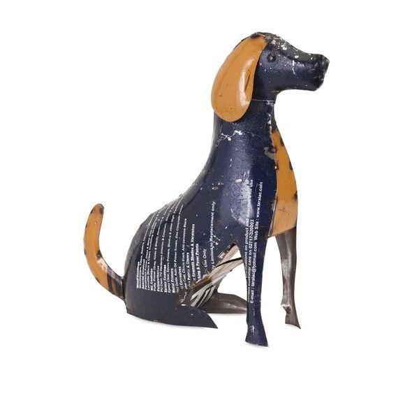 Imax Pedro The Pup - Reclaimed Metal S/2.