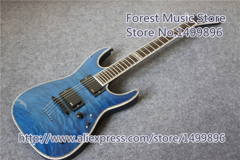 318.25$  Watch here - http://alia2g.worldwells.pw/go.php?t=32745334032 - China Custom Shop Blue Quilted Finish ESP MH-1000 LTD Deluxe Electric Guitar As Pictures For Sale