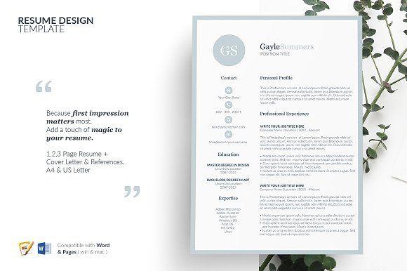 Resume #CV #Template Design - Resumes Best Resume Templates