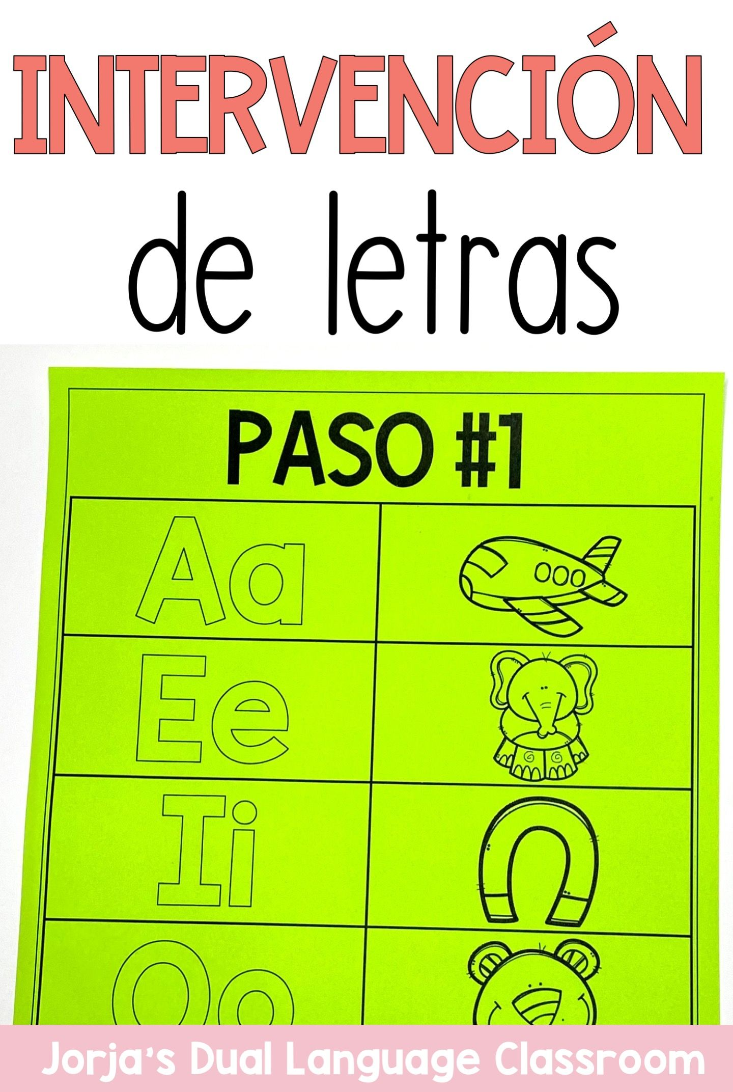 Letras Y Sonidos Letter Intervention In Spanish
