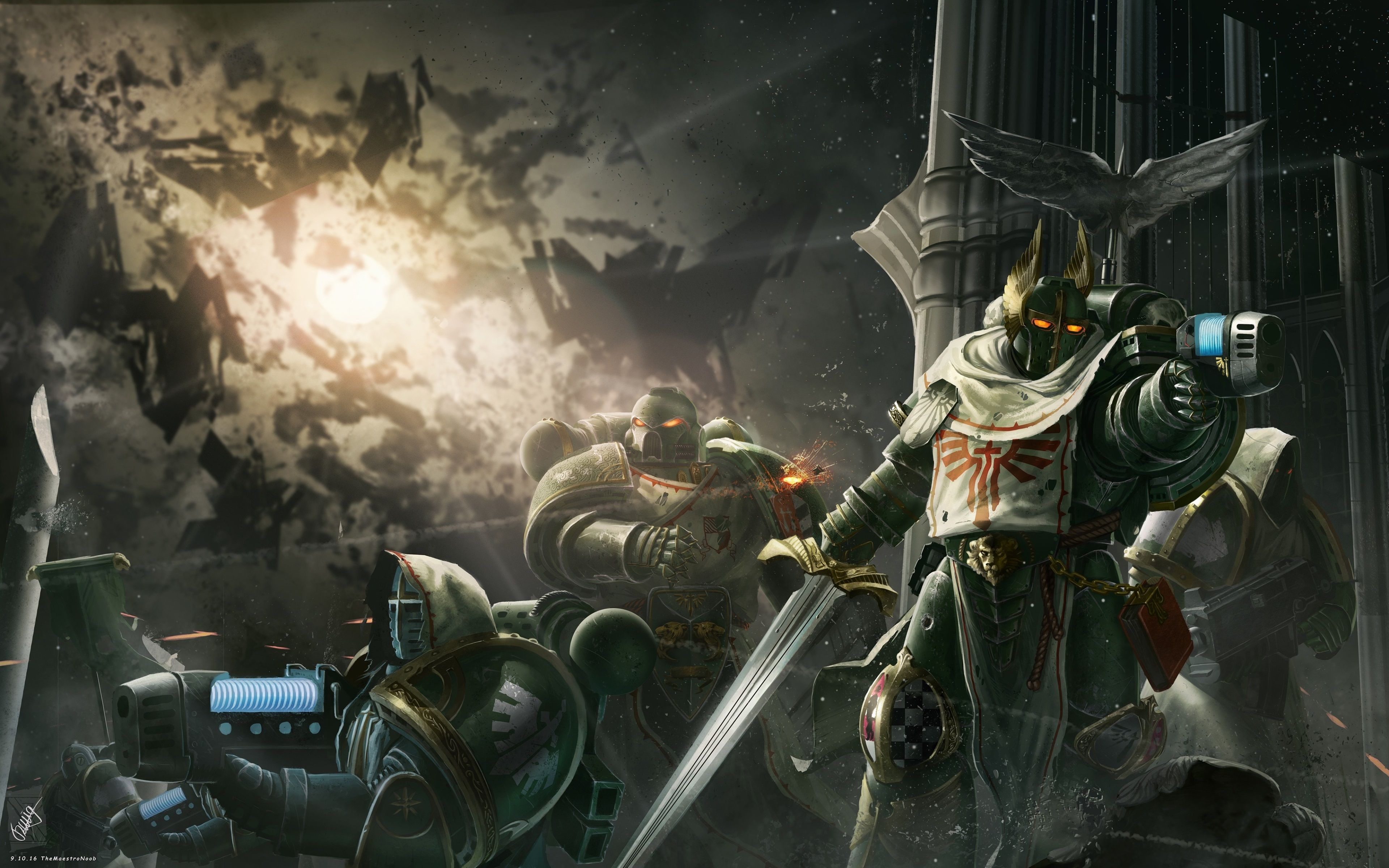 3840x2400 Warhammer 40000 Dawn Of War Iii 4k Download Backgrounds For Pc Dark Angel Wallpaper Dark Angel Angel Wallpaper
